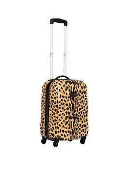 Myleene Klass Myleene Klass 4 Wheel Cabin Case - Leopard
