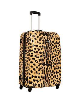 Myleene Klass Myleene Klass 4-Wheel Large Case - Leopard