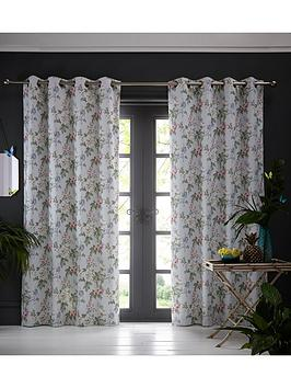 Product photograph showing Oasis Home Bailey Eyelet Curtains Ndash Blue