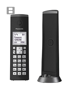panasonic-panasonic-kx-tgk220eb-digital-cordless-telephone-with-15-inch-lcd-screen-nuisance-call-blocker-and-answering-machine-single-dect-black
