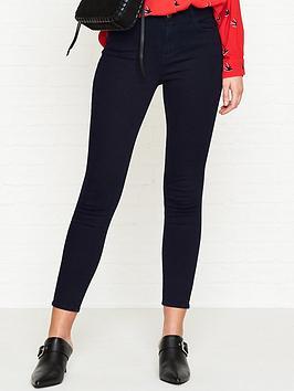 Alana High Rise Crop Skinny Jeans  Bluebird