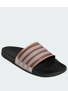 332bc91ea96727 adidas Adilette Comfort - Black Metallic