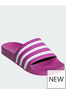 best sneakers 00815 e661d adidas Originals Adilette - Pink White