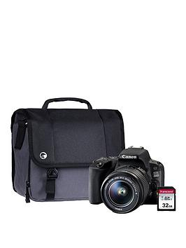 Canon Eos 200D Black Slr Camera Dc Kit Including 18-55Mm Non Is Lens, 16Gb Sd Card And Case