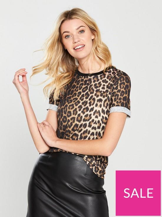 d22203d8e4 V by Very T-Shirt - Leopard Print | very.co.uk