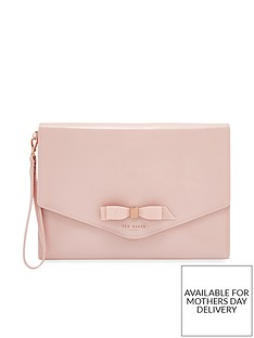 84cbfddb321f Ted Baker Cersei Bow Envelope Pouch Bag - Pink