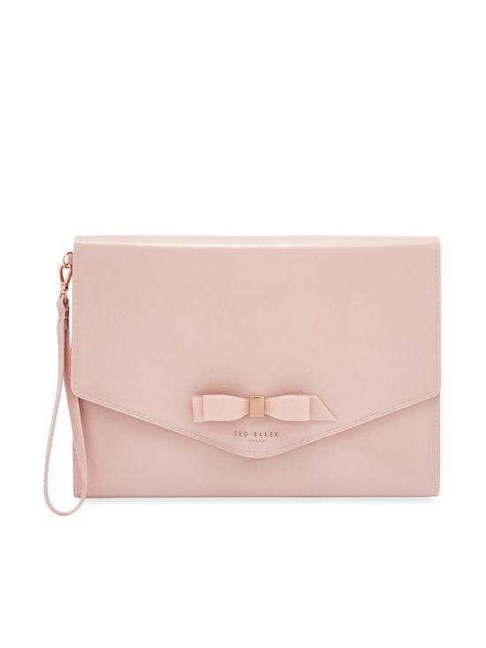8d09ad57c Ted Baker Cersei Bow Envelope Pouch Bag - Pink