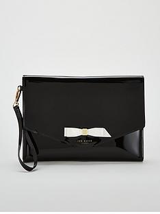 40c681b7164a3 Ted Baker Cersei Bow Envelope Pouch Bag - Black