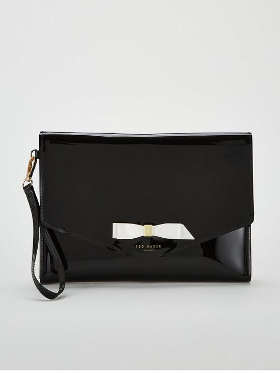 5f24405e190578 Ted Baker Cersei Bow Envelope Pouch Bag - Black