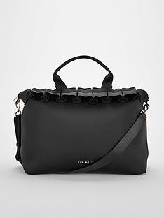 a319089f5a57 Ted Baker Roseiee Ruffle Detail Large Tote Bag - Black