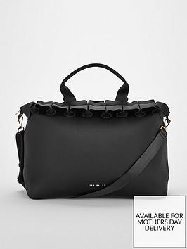 ted-baker-roseiee-ruffle-detail-large-tote-bag-blacknbsp