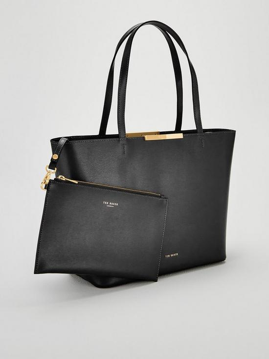 f435cdf1a5e3 ... Ted Baker Jackki Faceted Bow Mini Bark Shopper Bag - Black. View larger