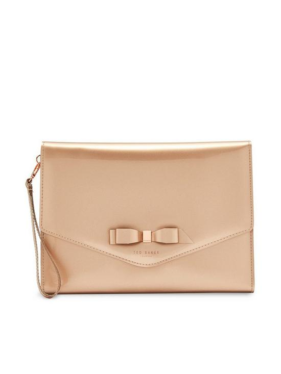 a6adc39597d5 Ted Baker Cersei Bow Envelope Pouch Bag - Rose Gold