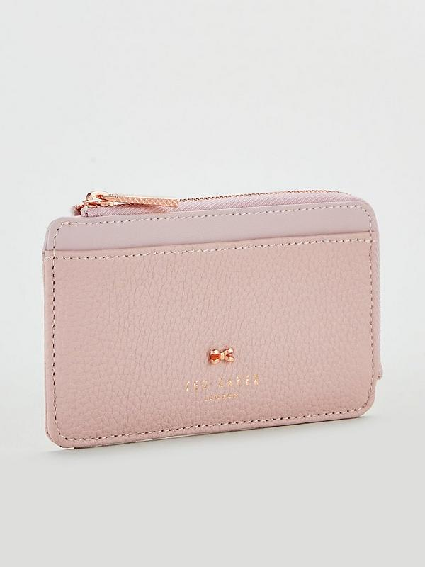 a44d4b7a1bbf Ted Baker Lotta Bow Detail Credit Card Holder - Pink   very.co.uk