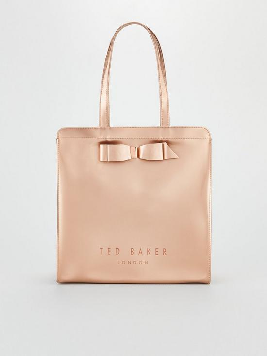 1c9932ae585c ... BOW DETAIL LARGE ICON BAG  Scalloped edge small shopper bag  Find the  Best Savings on Ted Baker  Ted ...