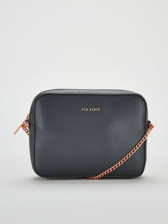 a0a5db48fef6 Ted Baker Juliie Leather Crossbody Camera Bag - Charcoal