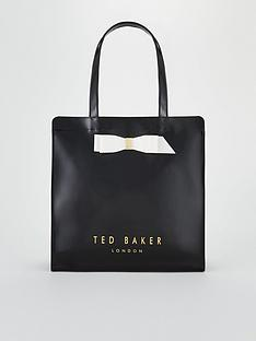 6898d7d53a7ddd Ted Baker Almacon Bow Detail Large Icon Bag - Black
