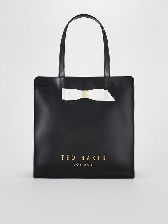 cf56e8d4155bb Ted Baker Almacon Bow Detail Large Icon Bag - Black
