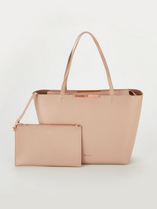 47604ce7b9 Ted Baker Jackki Faceted Bow Mini Bark Shopper Bag - Pale Pink ...