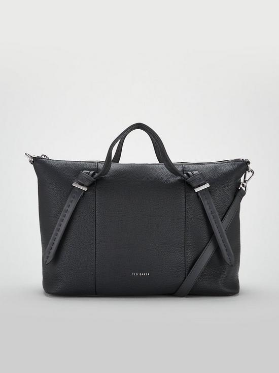 Ted Baker Oellie Knotted Handle Large Tote Bag - Charcoal   very.co.uk 3c8d06a95b