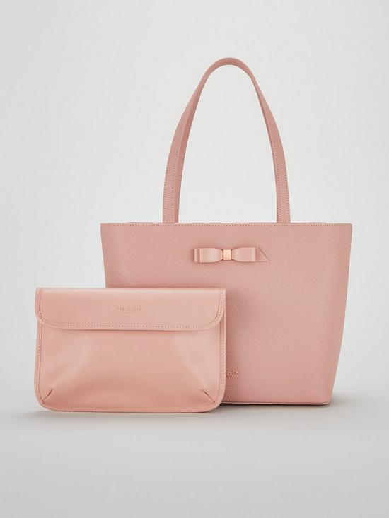 9e40d0a90 Ted Baker Jjesica Bow Detail Shopper Bag - Pale Pink | very.co.uk