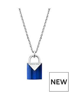 michael-kors-michael-kors-semi-precious-sterling-silver-padlock-necklace