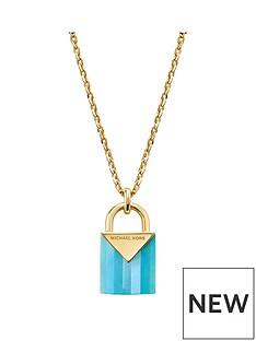 michael-kors-michael-kors-sterling-silver-gold-plated-blue-semi-precious-pendent-padlock-necklace