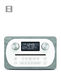 Pure Evoke C-D4 DAB Radio and CD Player with Bluetooth - Grey Oak