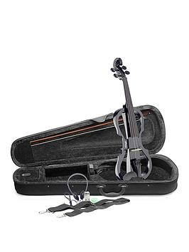 stagg-evn-x-electric-violin-outfit-black