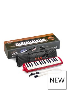 stagg-32-key-melodica-in-red-with-bag