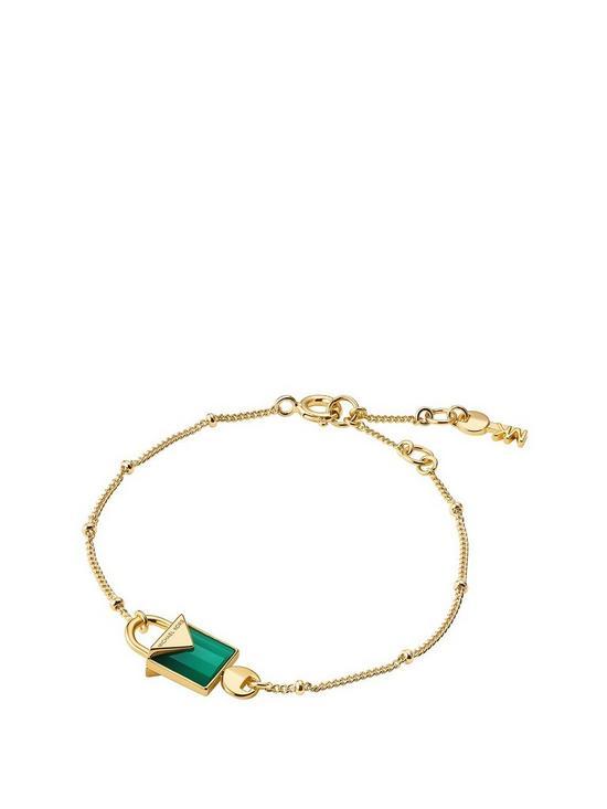 215a231cc43c3 MICHAEL KORS Michael Kors Semi-Precious 14ct Gold-Plated Sterling Silver  Bracelet