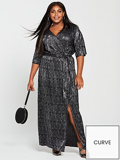 v-by-very-curve-animal-plisse-maxi-dress-metallicnbsp