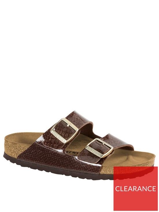 daca1f05f Birkenstock Arizona Two Strap Narrow Fit Sandals - Brown | very.co.uk