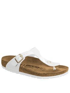 b36dc8fba9d Birkenstock Arizona Two Strap Bar Flip Flop Sandals - White