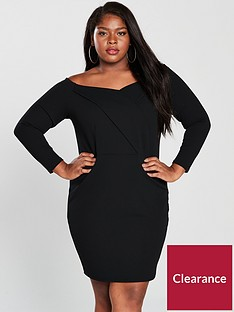 v-by-very-curve-jersey-bardot-bodyconnbspdress-black