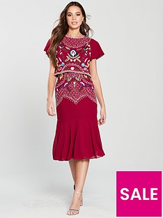 frock-and-frill-embroidered-double-layer-midi-dress-persian-red