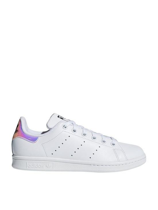 online store dcd75 021a4 Stan Smith Junior Trainers - White/Iridescent
