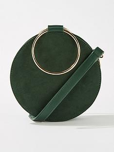 miss-selfridge-metal-circle-crossbody-bag-green