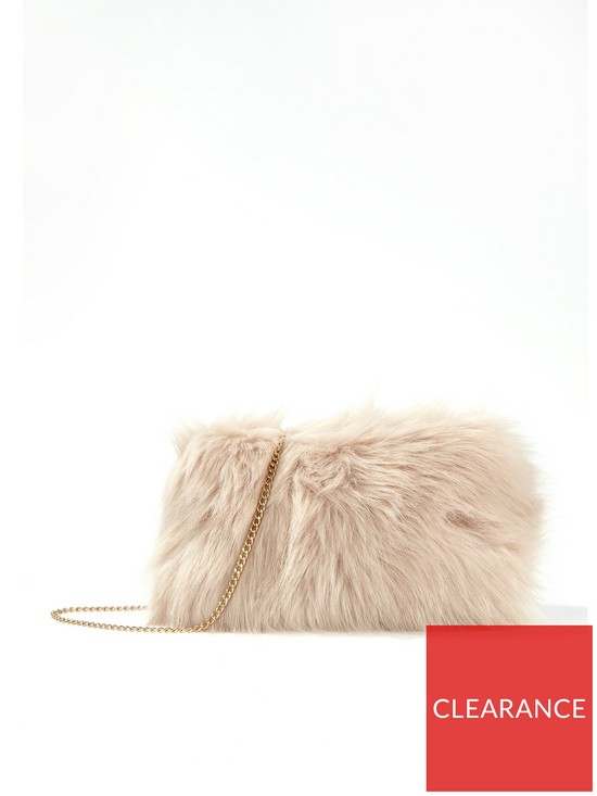 Miss Selfridge Faux Fur Shoulder Bag  1ba6ecec0c49d