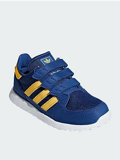fd95c0a7be35 adidas Originals Forest Grove Childrens Trainers - Blue Yellow
