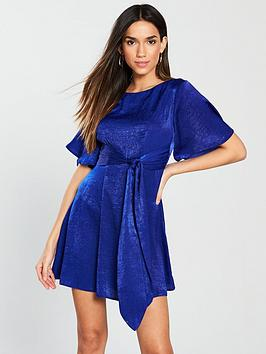 v-by-very-hammered-satin-tie-front-dress--nbsppurple