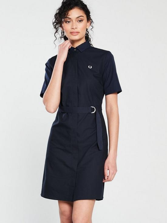 266c927d1ae Fred Perry Belted Shirt Dress - Navy