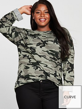 v-by-very-curve-roll-up-sleeve-camouflagenbsplongline-sweat