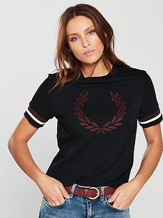 fred-perry-lauren-wreath-t-shirt