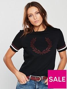 fred-perry-lauren-wreath-t-shirt