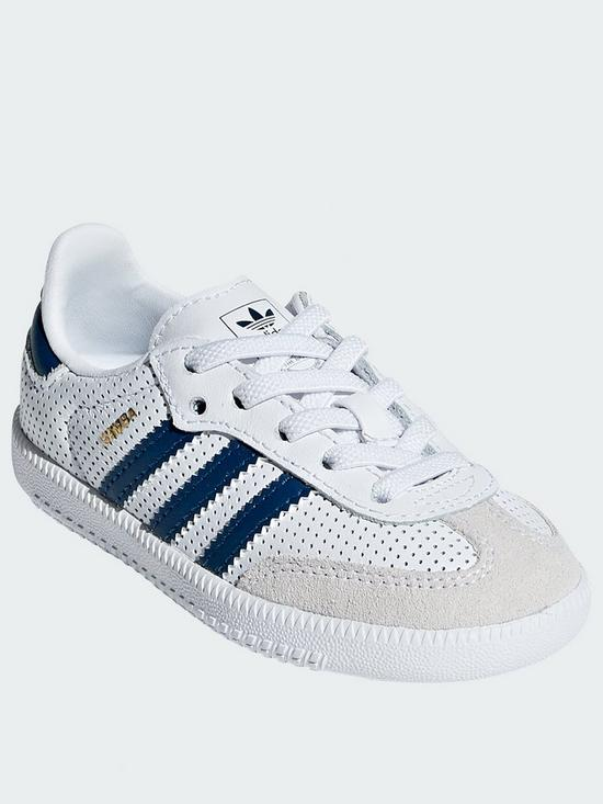 a80b9737d6c adidas Originals Samba Infant Trainers - White Blue