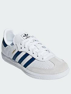 adidas-originals-samba-childrens-trainers-whiteblue