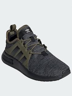 8b51dcda3d0d adidas Originals X PLR Junior Trainers - Grey Black