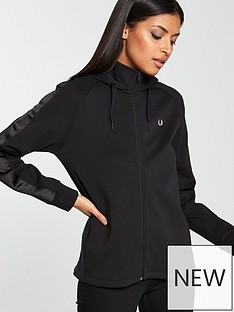 fred-perry-pleated-interlock-track-jacket-black