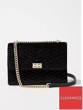 miss-selfridge-velvet-quilted-cross-body-bag-black